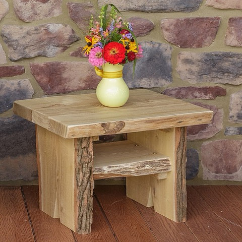 A&L Furniture Co. Blue Mountain Live Edge Sunset Thicket End Table