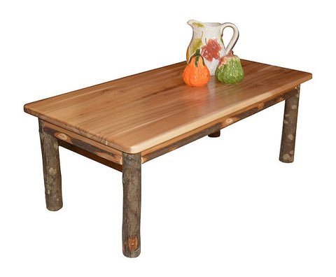 A&L Furniture Co. Rustic Hickory Solid Wood Coffee Table