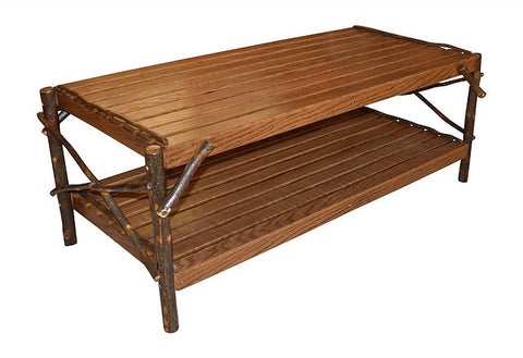 A&L Furniture Co. Hickory Coffee Table W/ Shelf