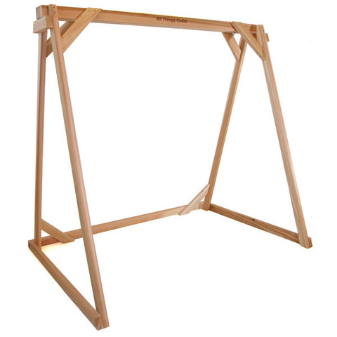 All Things Cedar A-Frame Red Cedar Swing Stand