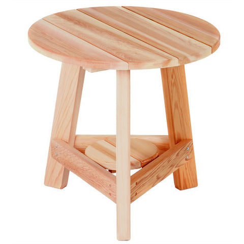 All Things Cedar Tripod Round Red Cedar Side Table