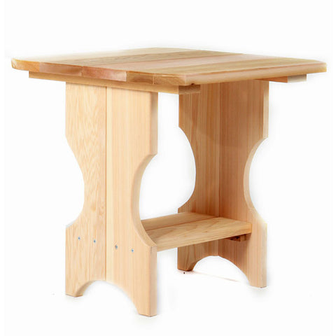 All Things Cedar Two-Shelf Square Red Cedar Side Table