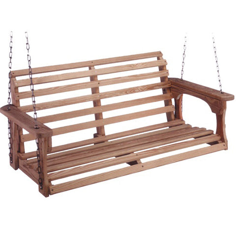 Beecham Swing Co. Roll Back Treated Porch Swing