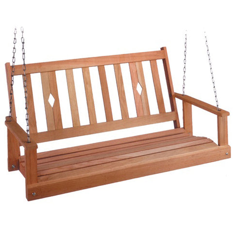 Beecham Swing Co. Diamond Back Oak Porch Swing