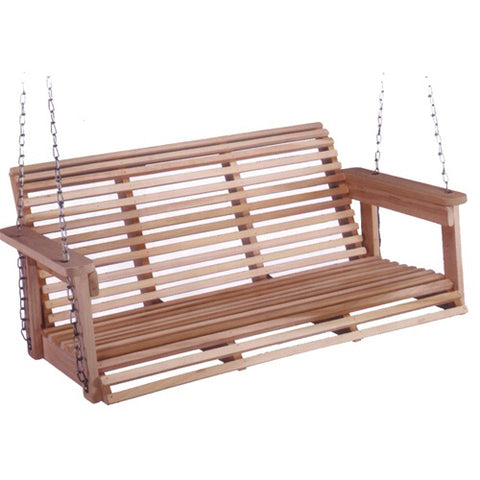 Beecham Swing Co. Roll Bottom 4ft. Porch Swing