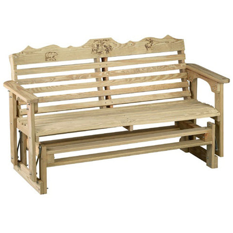 Beecham Swing Co. Wildlife Series 5ft. Treated Porch Glider
