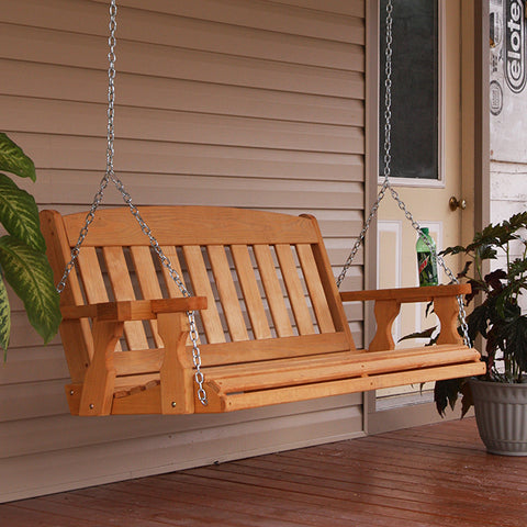 Centerville Amish Heavy Duty 700 Lb Mission Treated Porch Swing