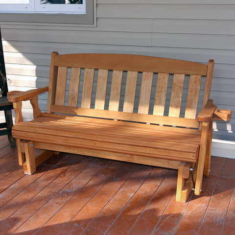 Centerville Amish Heavy Duty 800 Lb Mission Treated Porch Glider
