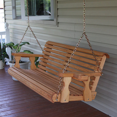 Centerville Amish Heavy Duty 700 Lb Roll Back Treated Porch Swing
