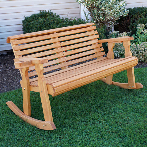 Centerville Amish Heavy Duty 800 Lb Roll Back Treated Double Rocker
