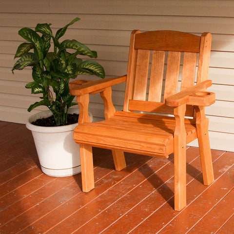 Centerville Amish Heavy Duty 600 Lb Mission Treated Patio Chair