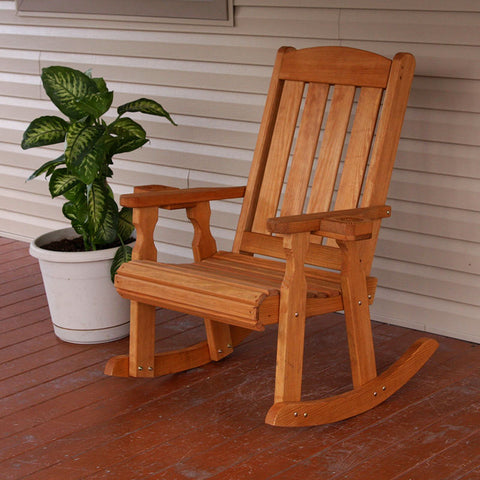 Centerville Amish Heavy Duty 600 Lb Mission Treated Rocking Chair