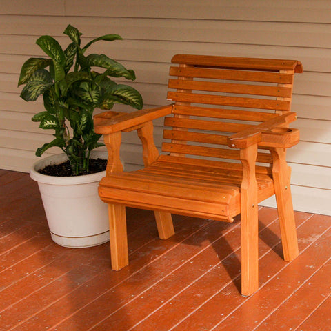 Centerville Amish Heavy Duty 600 Lb Roll Back Treated Patio Chair