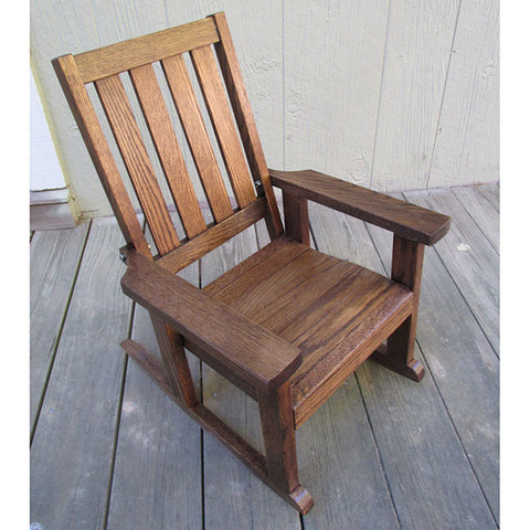 Child Swing Company Mission Stained Kiddie Rocking Chair