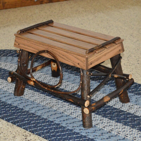A&L Furniture Co. Hickory Foot Stool