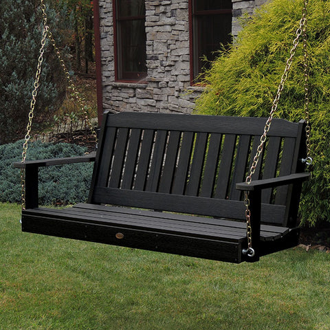 Highwood USA Lehigh Recycled Plastic Porch Swing