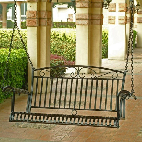 International Caravan Tropico 4ft. Wrought Iron Porch Swing
