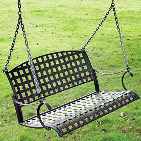 International Caravan Santa Fe 4ft. Wrought Iron Porch Swing