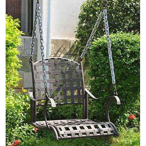 International Caravan Santa Fe Wrought Iron Swing Chair