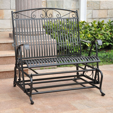 International Caravan Mandalay 4ft. Wrought Iron Patio Glider