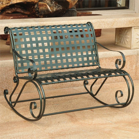 International Caravan Mandalay Wrought Iron Double Rocker