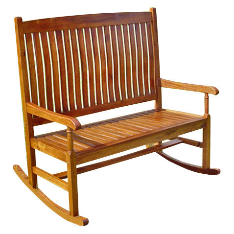 International Caravan Seton Hall Double Porch Rocker