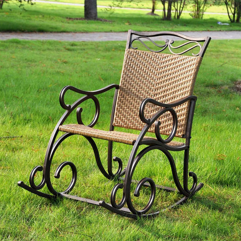 International Caravan Valencia Resin Wicker Rocking Chair