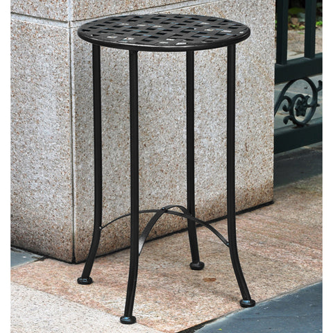 International Caravan Mandalay Wrought Iron Round End Table