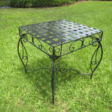 International Caravan Mandalay Wrought Iron Side Table