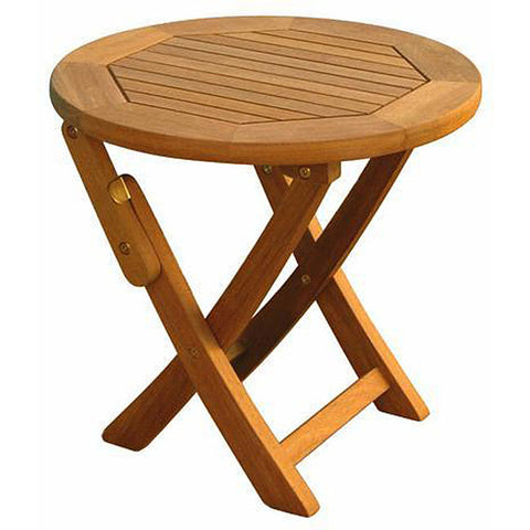 International Caravan Royal Tahiti Round Folding Side Table