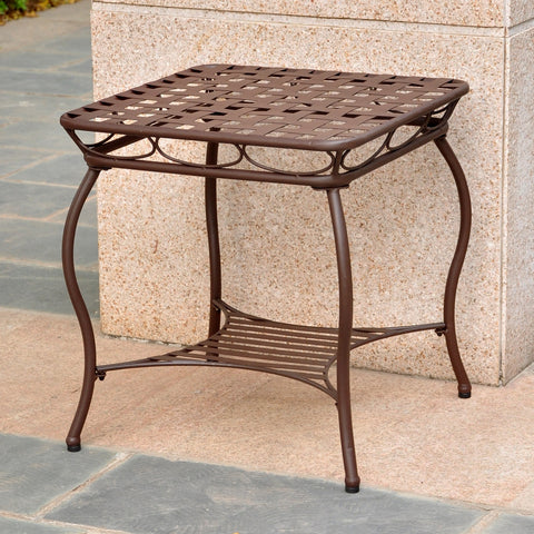 International Caravan Santa Fe Wrought Iron Side Table