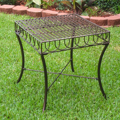 International Caravan Sun Ray Wrought Iron Side Table