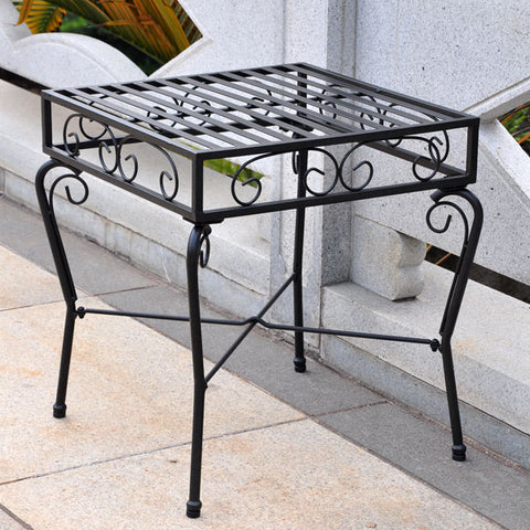 International Caravan Tropico Wrought Iron Side Table