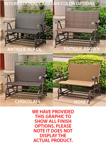 International Caravan Valencia Resin Wicker Single Patio Glider