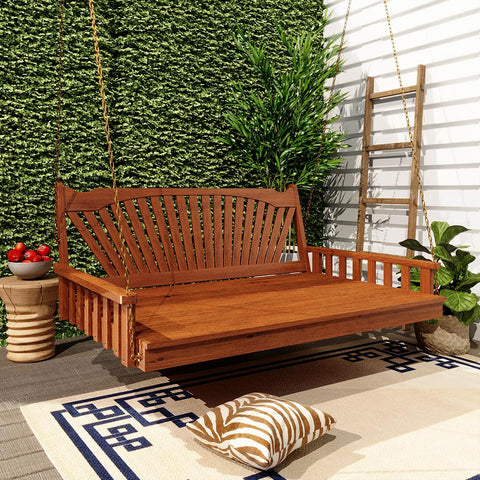 Keystone Amish Co. Sunburst Red Cedar Porch Swing Bed