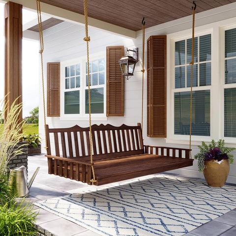 Keystone Amish Co. York Red Cedar Porch Swing Bed