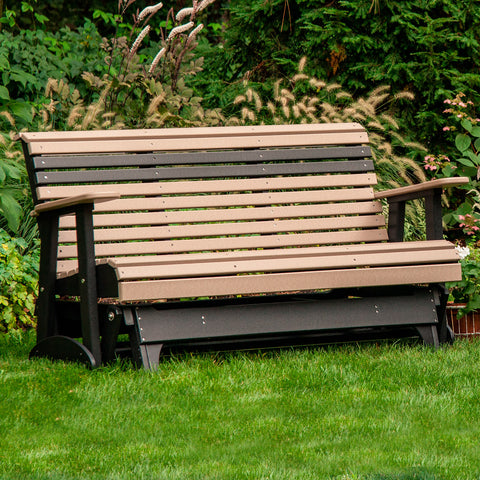 LuxCraft Rollback 4ft. Recycled Plastic Patio Glider