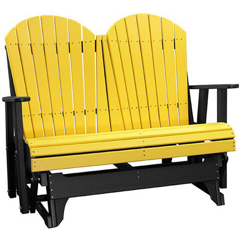 LuxCraft Adirondack 4ft. Recycled Plastic Patio Glider