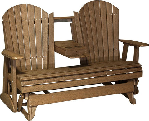 LuxCraft Adirondack Console 5ft. Recycled Plastic Patio Glider