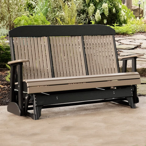 LuxCraft Classic Highback Console 5ft. Recycled Plastic Patio Glider