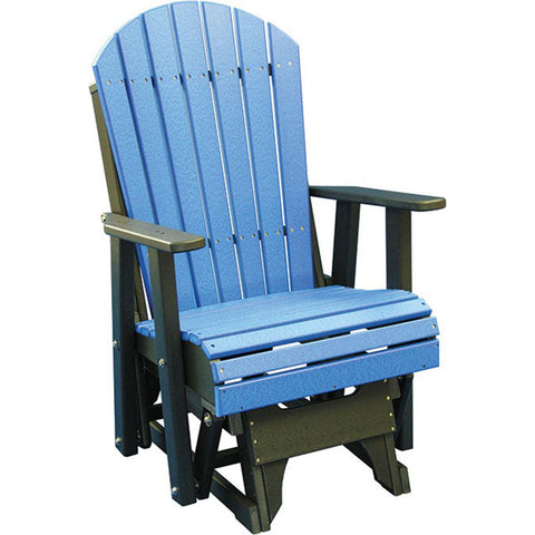 LuxCraft Adirondack Recycled Plastic Glider Chair