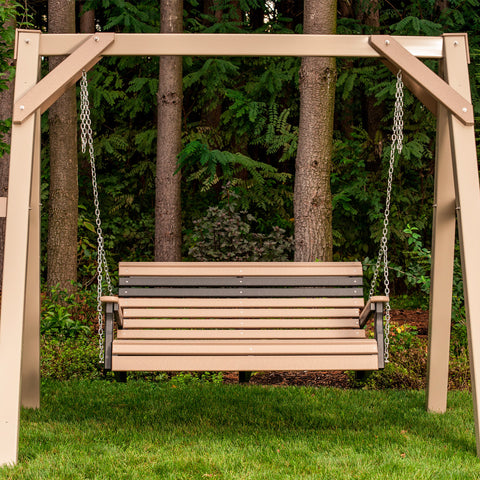 LuxCraft Rollback A-Frame Swing Set