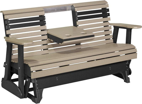 LuxCraft Rollback Console 5ft. Recycled Plastic Patio Glider