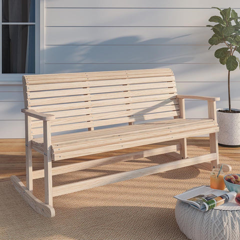 LA Swings Roll Back Rocker Bench
