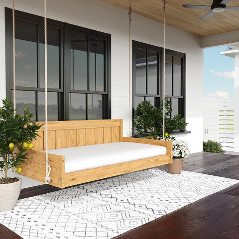 Lone Star Swing Co. The Houston Red Cedar Daybed Swing