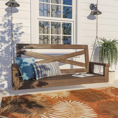 Porchgate Amish Heavy Duty 700 Lb Boardwalk Porch Swing