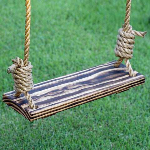 Porchgate Amish Made Hand Charred Tree Swing