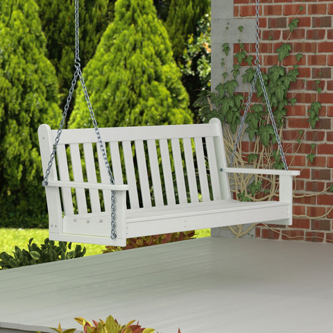 POLYWOOD Vineyard 5ft. Recycled Plastic Porch Swing