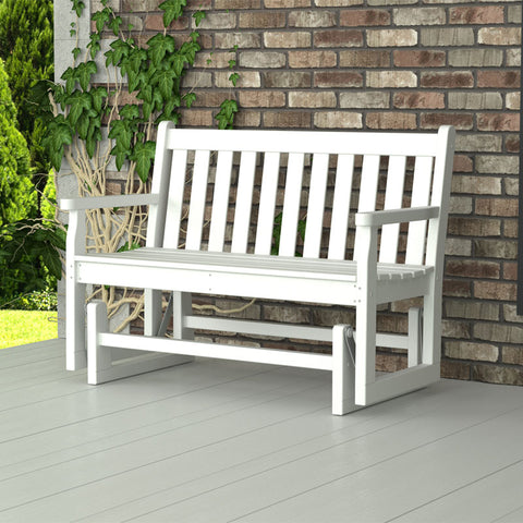 POLYWOOD Traditional Garden 4ft. Recycled Plastic Glider Bench