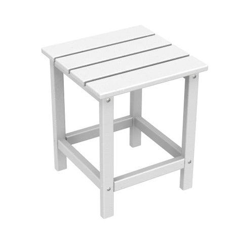 POLYWOOD Long Island Square Recycled Plastic Side Table
